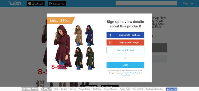 2018-09-20 07_25_56-Wish _ Women Halloween Outwear New Fashion Autumn Irregular Coat Layered High Lo