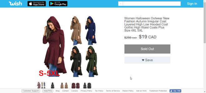 2018-09-20 07_26_55-Wish _ Women Halloween Outwear New Fashion Autumn Irregular Coat Layered High Lo